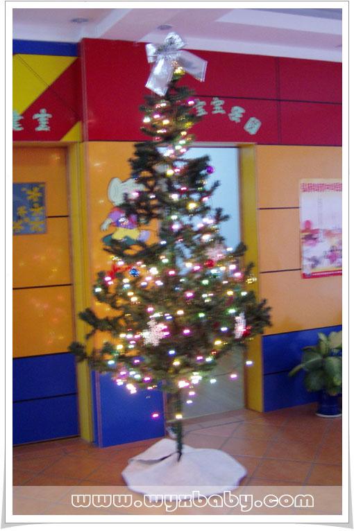 小丫幼儿园门厅里的圣诞树